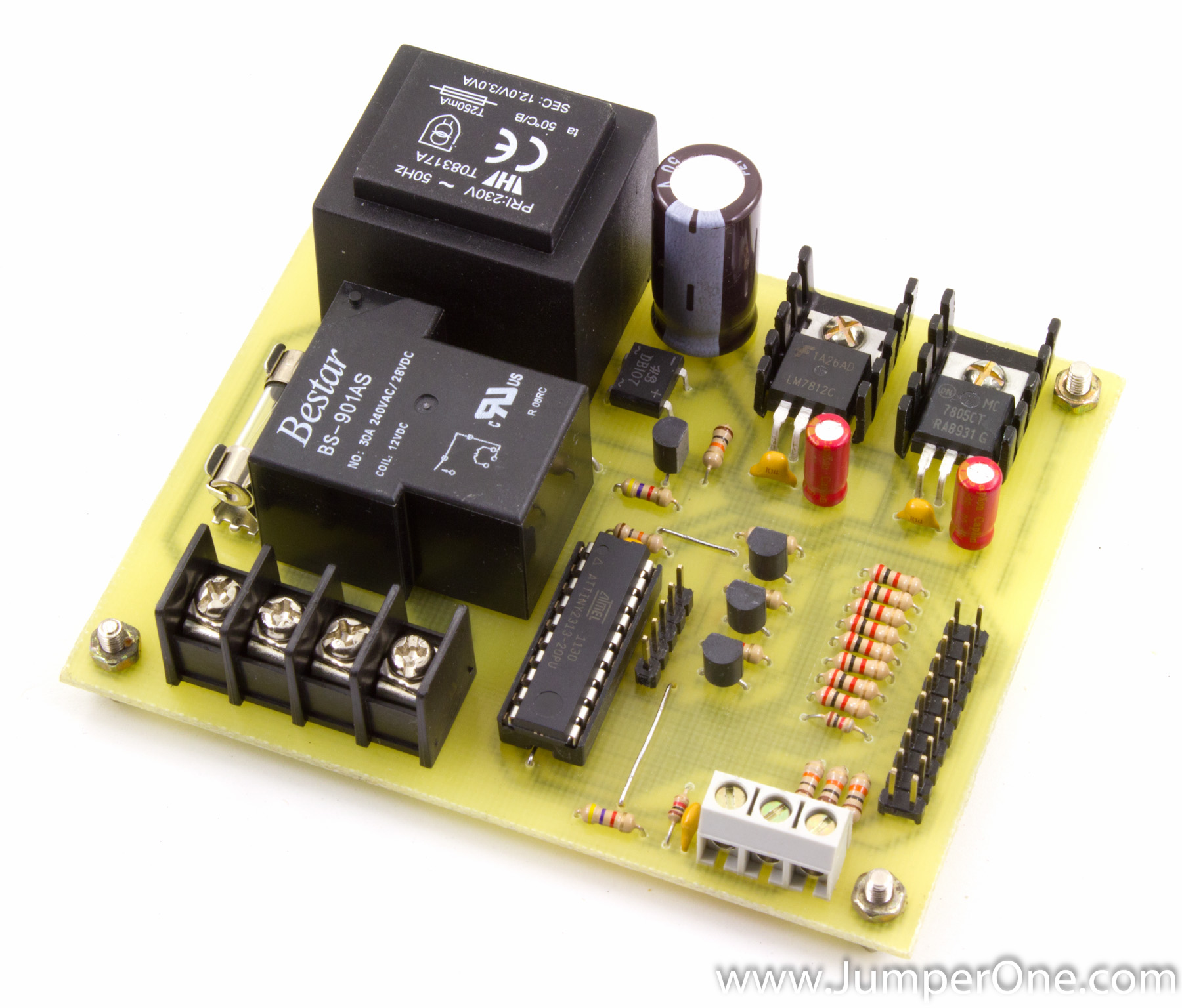 Attiny2313 Based Thermostat Project Part 2 Jumper One Delay Relay Timer Circuit Electronic Projects I
