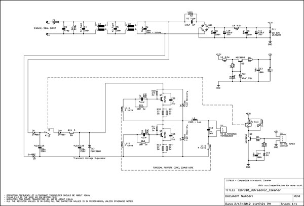 schematic ultrasonic cleaner reverse engineering (codyson cd 7810) jumper one  at soozxer.org