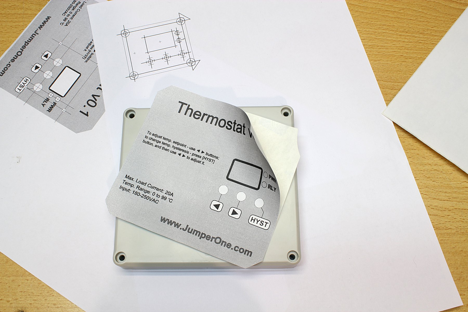 How To Make Nice Looking Diy Front Panel Jumper One Circuit Board Stickers Sticker Designs Label Now When Is In